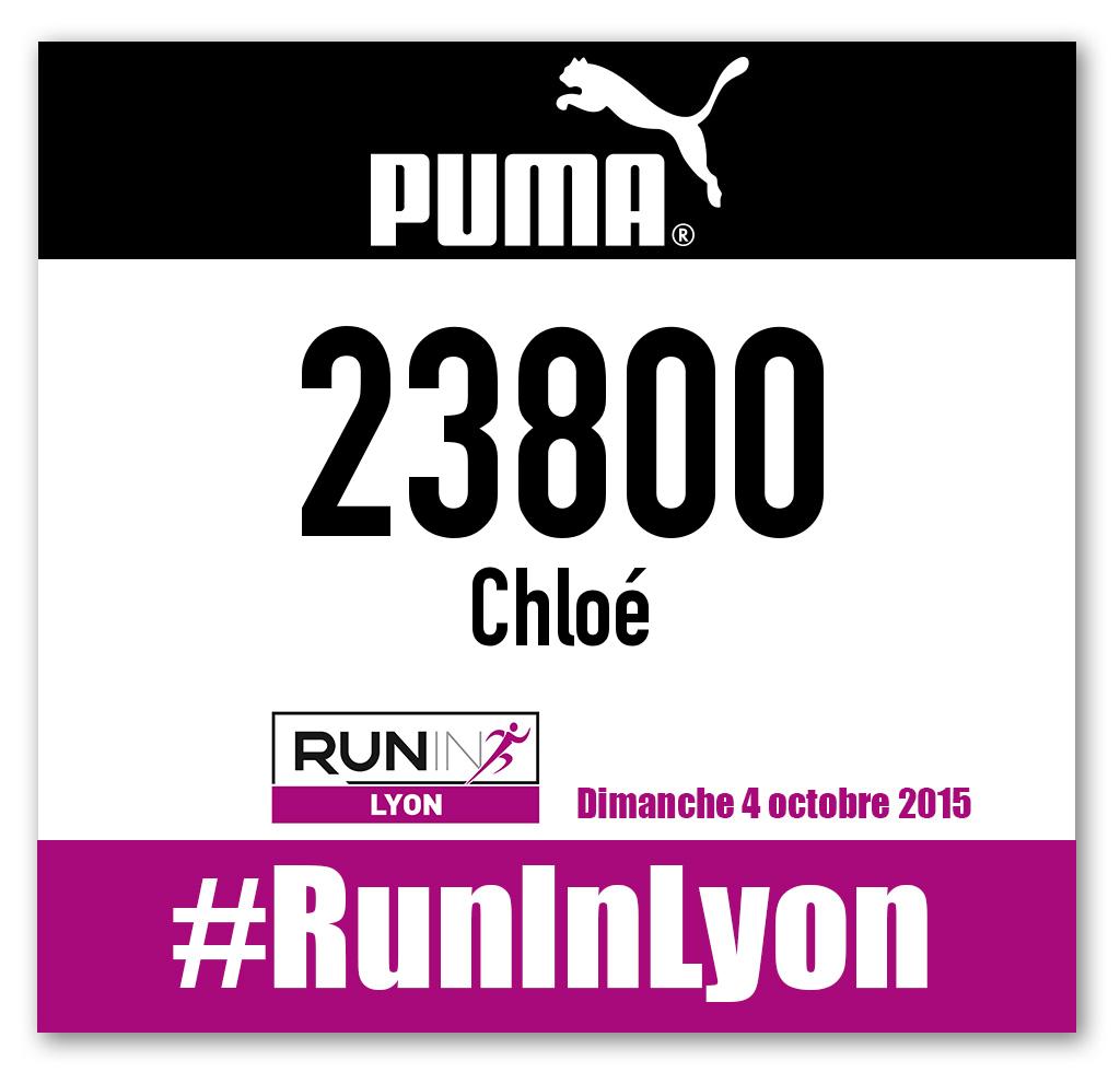 Dossard Run in Lyon